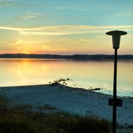 Sonnenuntergang am Glücksburger Strand